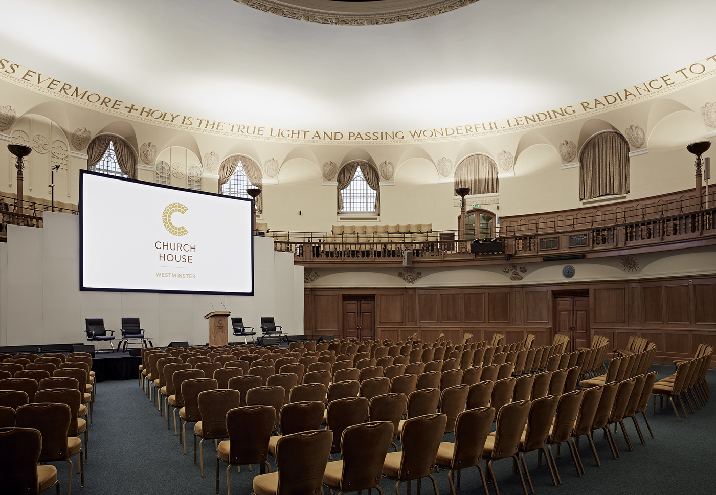 X large 1551195260 assembly hall theatre style with stage set 2 church house conference centre london