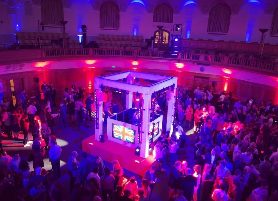 X large 1562604555 central stage with themed dj booth  church house conference centre london